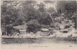 Cpa,var,TOULON,port De Méjean En 1910 Avec Vue Historique Du Site,et Pécheurs,rare,prés De Marseille - Toulon