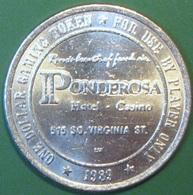 $1 Casino Token. Ponderosa, Reno, NV. 1989. H79. - Casino
