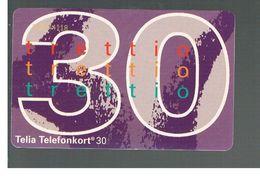 SVEZIA (SWEDEN) - TELIA  (CHIP) -  1994   NUMBER 30        - USED - RIF. 10039 - Sweden