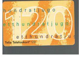 SVEZIA (SWEDEN) - TELIA  (CHIP) -  1994   NUMBER 120     - USED - RIF. 10040 - Sweden