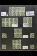 1867-68 5c Green Condor SPECIALIZED COLLECTION Of Very Fine Mint & Used Examples, Chiefly As Pairs Or Blocks Of 4, 6 & 8 - Bolivia