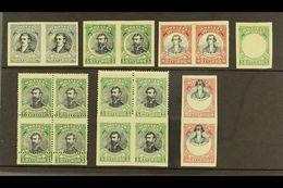 1910 VARIETIES & ERRORS. War Of Independence Fine Mint Group Of Perf Varieties & Errors, Comprising 1910 Horiz Imperf Pa - Bolivia