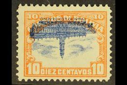 1916-17 10c Orange & Blue Parliament With Stop CENTRE INVERTED Variety (Scott 116c, SG 147b), Very Fine Mint, Fresh, Sig - Bolivia