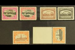 1916-17 PERFORATED COLOUR PROOFS. 2c Magenta & Black And 2c Rose & Black Lake Titicaca (Scott 113), 5c Brown And 5c Blac - Bolivia