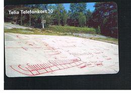 SVEZIA (SWEDEN) - TELIA  (CHIP) -  1995   TANUM,ROCKY INCISIONS      - USED - RIF. 10042 - Sweden