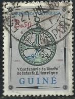 Portuguese Guinea Guiné 1960 500th Anniv Of Death Of Prince Henry The Navigator Nautical Astrolabe Canc - Explorers