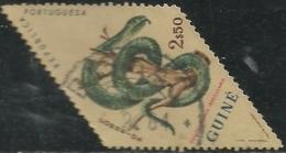 Portuguese Guinea Guiné 1963 Snakes - Green Swamp Snake Canc - Snakes