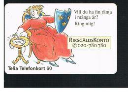 SVEZIA (SWEDEN) - TELIA  (CHIP) -  1995   RIKSGALDKONTO    - USED - RIF. 10042 - Sweden