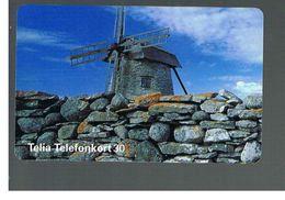 SVEZIA (SWEDEN) - TELIA  (CHIP) -  1995   WINDMILL    - USED - RIF. 10043 - Sweden