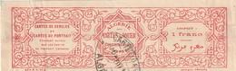 France Fiscal Algérie - Cartes A Jouer De Cercles Bande RR Impot 1 Franc - Fiscaux