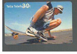 SVEZIA (SWEDEN) - TELIA  (CHIP) -  2001 SKATEBOARD    - USED - RIF. 10046 - Sweden
