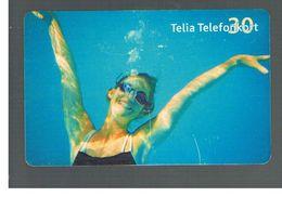 SVEZIA (SWEDEN) - TELIA  (CHIP) -  2003 GIRL IN WATER    - USED - RIF. 10046 - Sweden