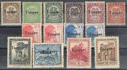 Serie Completa TANGER, Marruecos Español, Edifil Num 114-127 **/* - Marruecos Español