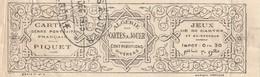 France Fiscal Algérie - Cartes A Jouer Portrait Francais Piquet Bande RR Impot 0.3 - Fiscaux