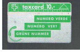 SVIZZERA (SWITZERLAND) - 1990 GREEN NUMBER   - USED - RIF. 10048 - Svizzera