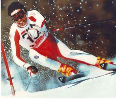 1624    FOTO   22 X 18    DIETER   BAUMAN   CRANS  MONTANA  1987 - Winter Sports