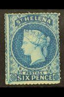 1861 6d Blue, SG 2, Clean Cut Perforation (nearer To Intermediate Than Rough), Fresh Mint With Good Colour And Large Par - Saint Helena Island