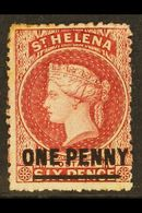 1864-80 1d Lake Type B, SG 7, Fresh Mint With Large Part Original Gum. For More Images, Please Visit Http://www.sandafay - Saint Helena Island