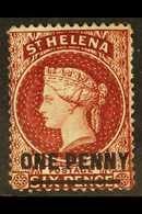 1864-80 1d Lake (Type B), Perf 14, SG 27, Fine Mint. For More Images, Please Visit Http://www.sandafayre.com/itemdetails - Saint Helena Island