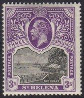 1912-16 3s Black And Violet, SG 81, Fine Mint. For More Images, Please Visit Http://www.sandafayre.com/itemdetails.aspx? - Saint Helena Island