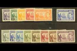 1938-44 Complete Definitive Set, SG 131/140, Very Fine Mint. (14 Stamps) For More Images, Please Visit Http://www.sandaf - Saint Helena Island