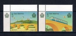 San Marino [EUROPA 2018] Ponti Bridges Ponts (set Of 2 Stamps With Labels) - As Scan - 2018