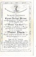 MA57/ 1e H MIS ELVERDINGHE 1872 E.H.PIETER BAES    Porceleinkaart!!! - Religion & Esotericism