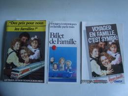 SNCF. VOYAGER EN FAMILLE, C'EST SYMPA! / DES PRIX POUR NOUS LES FAMILLES! BILLET DE FAMILLE - FRANCE, 1983. - Chemin De Fer