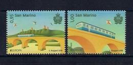 San Marino [EUROPA 2018] Ponti Bridges Ponts (set Of 2 Stamps) - As Scan - 2018