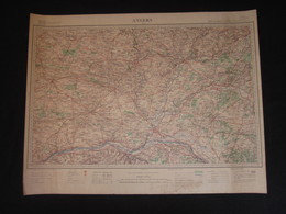 Carte D'ANGERS, Service Géographique De L'Armée, Tirage D'Avril 1940, WW2. - Geographical Maps