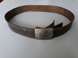 Ceinturon Et Sa Boucle Allemand 39 45 WW2 - 1939-45