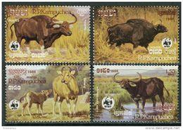 Kampuchea 1986. Michel #823/26  MNH/Luxe. WWF. (Ts39/B24) - Kampuchea