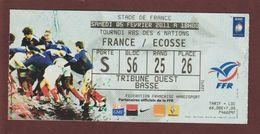 Ticket Original D'entrée - RUGBY - Match : FRANCE /  ECOSSE  Du 5 Février 2011 Au STADE DE FRANCE - 2 Scannes Face & Dos - Tickets D'entrée