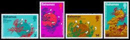 Bahamas, 1974, UPU Centenary, Universal Postal Union, United Nations, MNH, Michel 366-369 - Bahamas (1973-...)