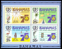 Bahamas, 1985, International Youth Year, United Nations, MNH, Michel Block 45 - Bahamas (1973-...)