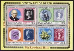 Bahamas, 1979, Sir Rowland Hill, Stamps On Stamps, UPU, MNH, Michel Block 27 - Bahamas (1973-...)