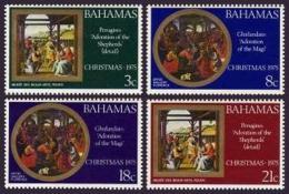 Bahamas, 1975, Christmas, Paintings, MNH, Michel 388-391A - Bahamas (1973-...)