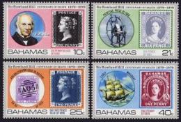 Bahamas, 1979, Sir Rowland Hill, Stamps On Stamps, UPU, MNH, Michel 440-443 - Bahamas (1973-...)