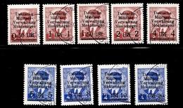 Montenegro Occupation Allemande Michel N° 1/9 Oblitérés. B/TB. A Saisir! - Occupation 1938-45
