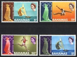 Bahamas, 1968, Olympic Summer Games Mexico, Sports, MNH, Michel 281-284 - Bahamas (1973-...)