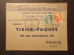 Marcophilie  Cachet Obliteration Timbres - Entête Pro Ouvrages De Dames 1951 (1832) - Marcophilie (Lettres)