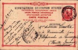 Grèce Greece Eubée La Rivière D' Oxylithos édition Du Service Des Postes Helleniques Entier Postal 1919 - Grecia