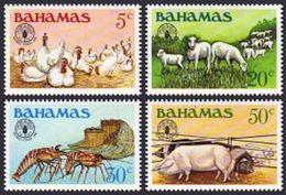 Bahamas, 1981, World Food Day, FAO, United Nations, Animals, MNH, Michel 490-493 - Bahamas (1973-...)