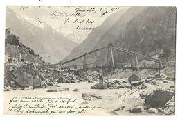 OISAN PONT RUSTIQUE SUR LE VENEON 1901 CPA 2 SCANS - Bourg-d'Oisans
