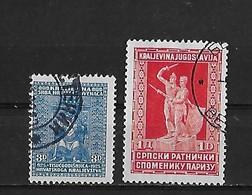 Yougoslavie Yv. 206 Et 208 O. - 1931-1941 Royaume De Yougoslavie
