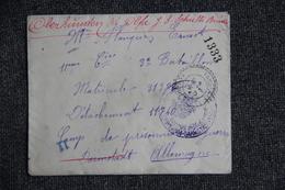 Prisonnier Militaire - Lettre En Franchise Militaire De FAUGERES Vers OBERHINDEN  ( ALLEMAGNE). - Marcofilie (Brieven)