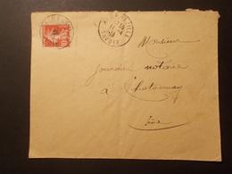 Marcophilie  Cachet Obliteration Militaire Timbre FM Albertville - 1913 (1843) - Bolli Militari A Partire Dal 1940 (fuori Dal Periodo Di Guerra)