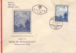 Enveloppe 1er JOUR - Alpine Ski-Weltmeisterschaft Badgastein 1958 - FDC