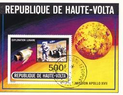REPUBLIQUE DE HAUTE-VOLTA MISSION APOLLO XVII 1973 - Alto Volta (1958-1984)