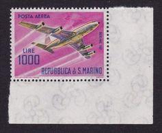 1964 San Marino Saint Marin AEREO 1000 LIRE Serie Aerea MNH** Angolo Air Mail, Airplane - San Marino